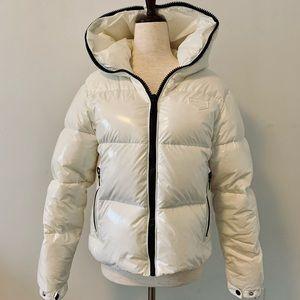 Duvetica White Nylon Down Puffer Coat